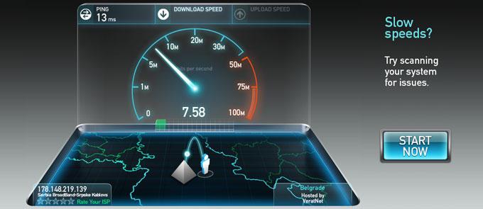 Internet provera protoka